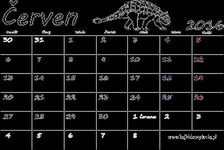 kalendar kveten 2014 Kalendář k vytisknutí pdf   Červen 2016 | Edukacyjne bajki do czytania kalendar kveten 2014