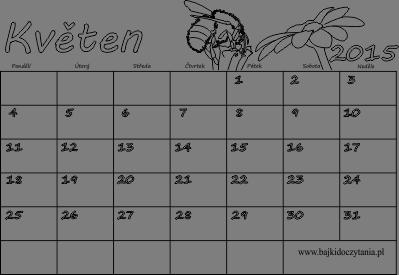 kalendar kveten 2014 Kalendář k vytisknutí pdf   Květen 2015 | Edukacyjne bajki do czytania kalendar kveten 2014