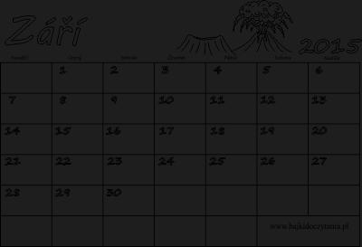 kalendar zari Kalendář k vytisknutí pdf   Září 2015 | Edukacyjne bajki do czytania kalendar zari