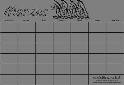 kalendarz marzec uniwersalny kalendarz marzec 2014 kalendarz marzec ...