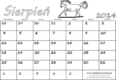 kalendarz sierpień 2014 kalendarz sierpień 2014 niedziele i święta