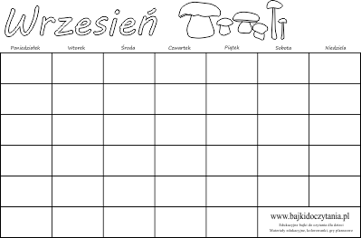 kalendarz wrzesień uniwersalny kalendarz wrzesień 2014 kalendarz ...