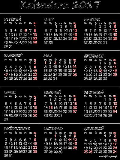 Kalendarz do druku pdf 2017