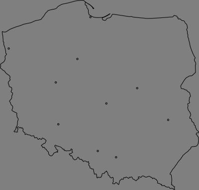 Mapa Polski Z 10 Największymi Miastami Do Wydruku