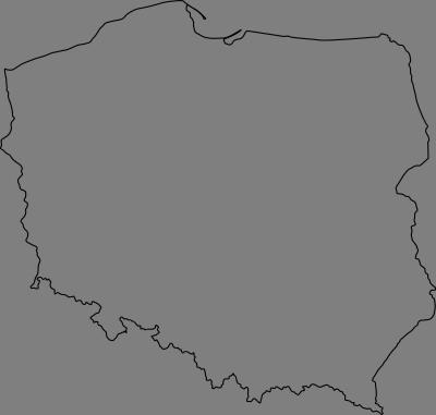 Konturowa Mapa Polski W Pdf Wektorowa Do Wydruku