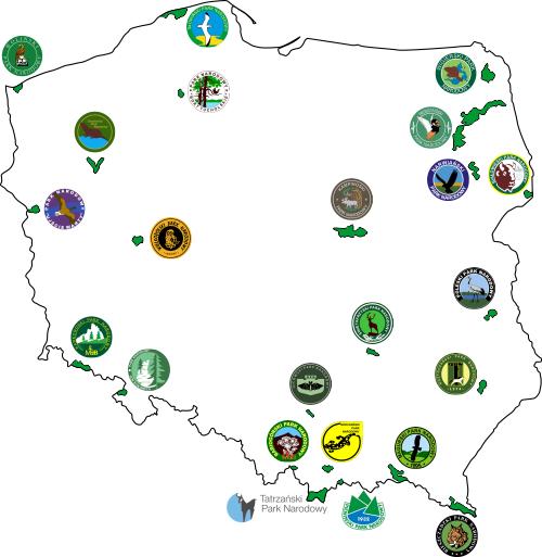 Polskie Parki Narodowe Mapa Konturowa Edukacyjne Bajki Do Czytania