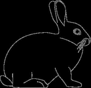 Szablon Zająca Wielkanocnego Do Druku Edukacyjne Bajki Do Czytania