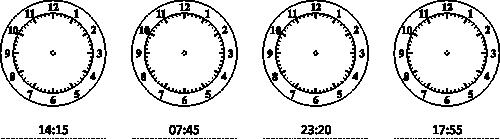 Odczytywanie Godzin Na Zegarze Karty Pracy Edukacyjne