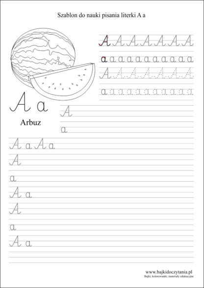 Przykładowy szablon do nauki pisania