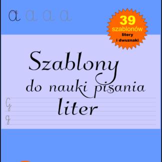 Szablony do nauki pisania liter